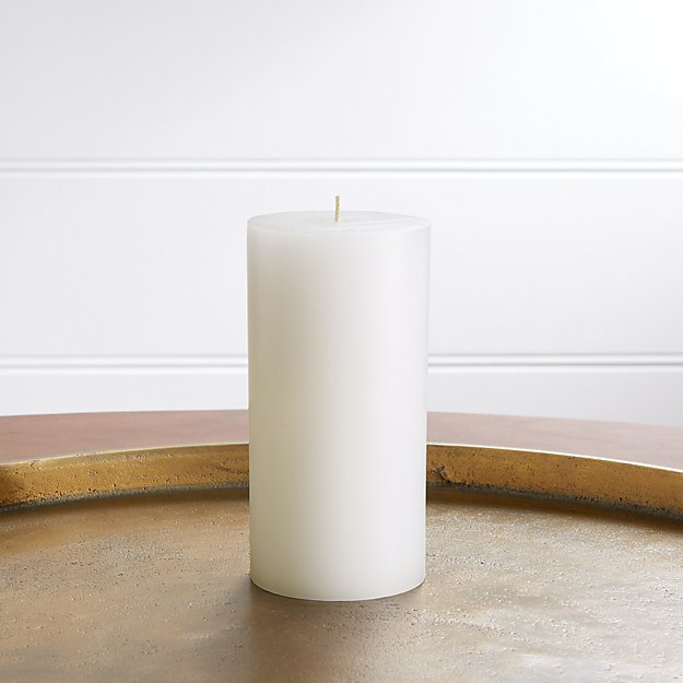 "3""x6"" White Pillar Candle - Image 1 of 10"