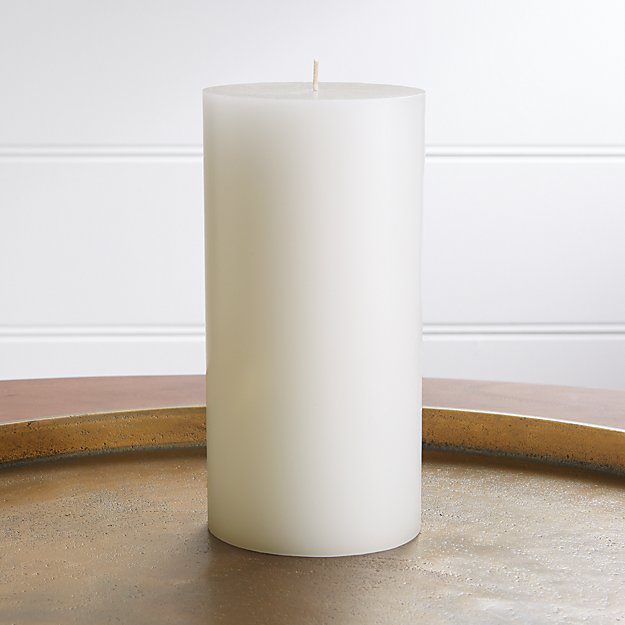 "4""x8"" White Pillar Candle - Image 1 of 9"