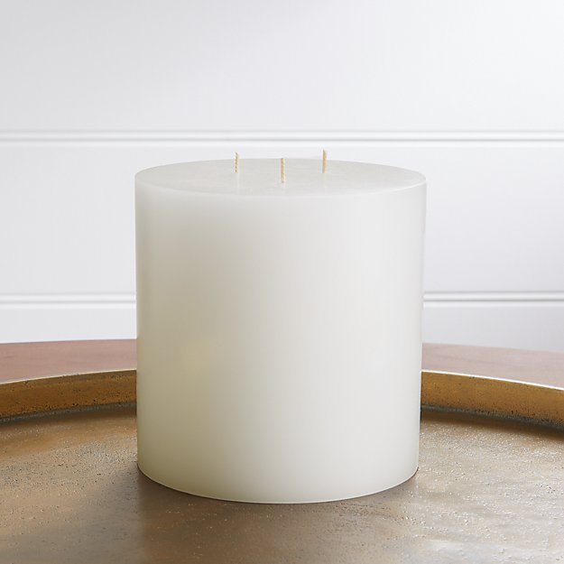 "6""x6"" White Pillar Candle - Image 1 of 10"
