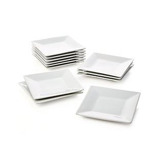 "6"" Appetizer Plates Boxed, Set of 12"