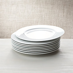 White Porcelain Salad Plates Set of 8 + Reviews | Crate and Barrel