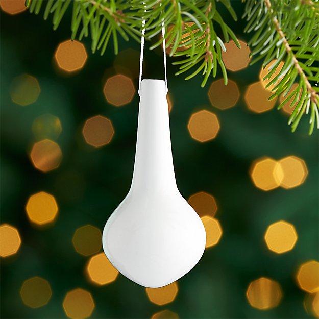 White Porcelain Drop Ornament