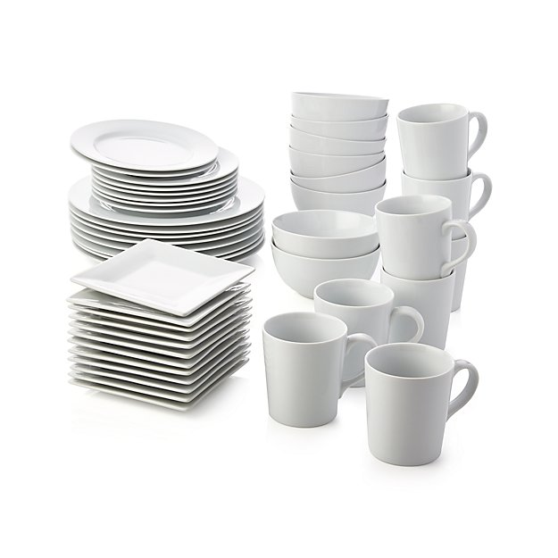 sc 1 st  Crate and Barrel & White Porcelain Salad Plates Set of 8 + Reviews | Crate and Barrel
