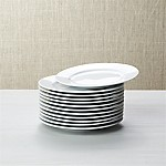 White Porcelain Round Appetizer Plates, Set of 12