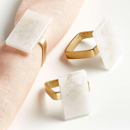 White Quartz Napkin Ring