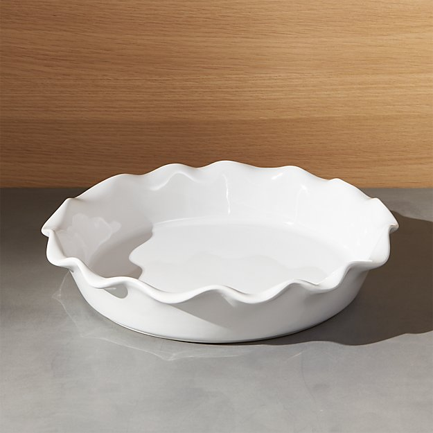 & Ruffled Pie Dish | Crate and Barrel