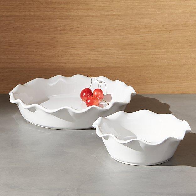 Ruffled Pie Dish - Image 1 of 12