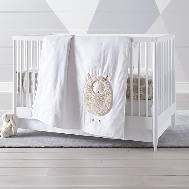 Sheepish Sheep Print Crib Bedding Crate And Barrel