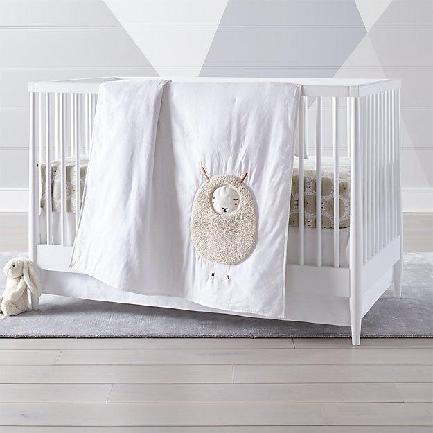 Sheepish Sheep Print Crib Bedding Crate And Barrel