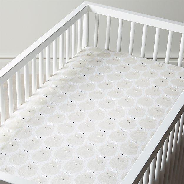 8073ce1c8ab37 Organic Sheep Crib Fitted Sheet