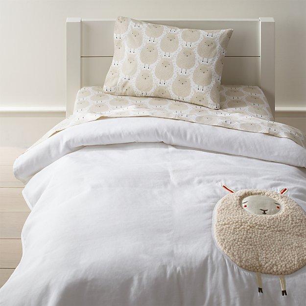 sheepish sheep print toddler bedding crate and barrel - Toddler Bedding