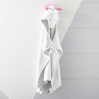 Baby White Unicorn Hooded Towel