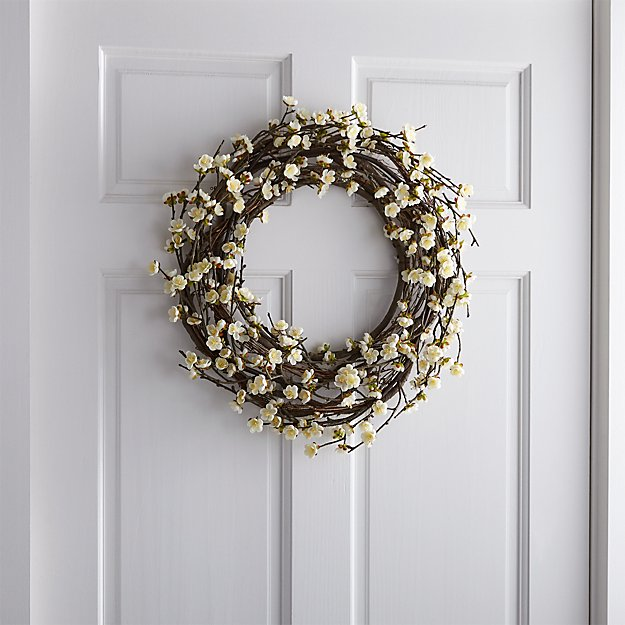 White Cherry Blossom Wreath