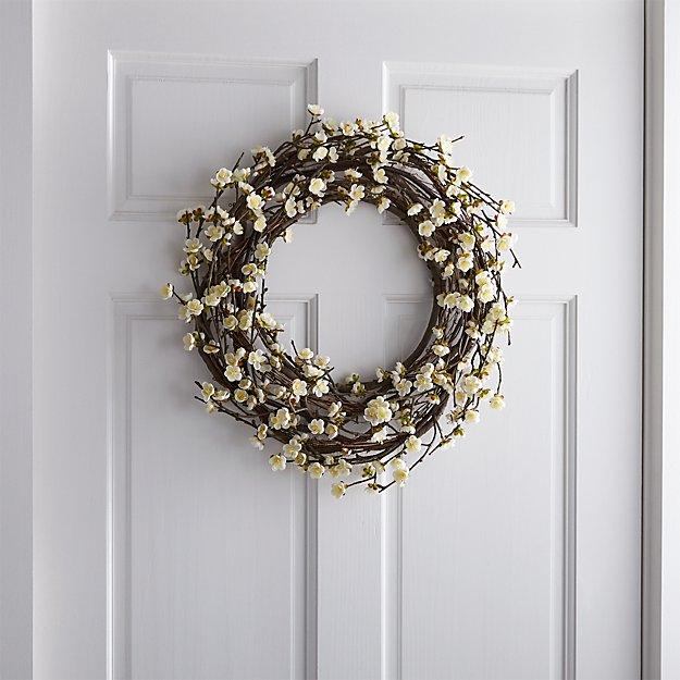 White Cherry Blossom Wreath - Image 1 of 4