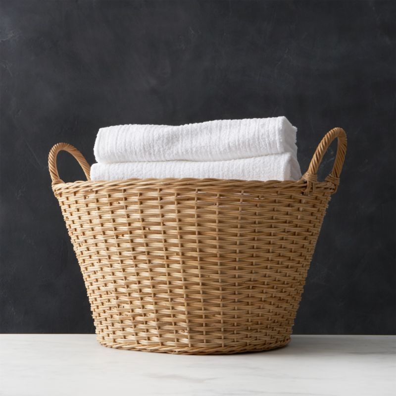 images for natural finish rattan laundry basket