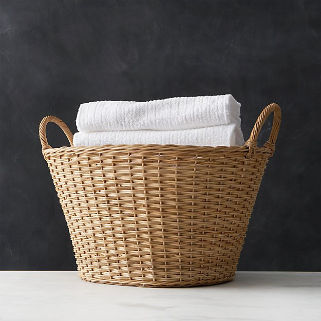 wicker laundry basket reviews crate and barrel - Wicker Laundry Basket
