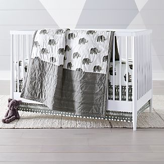 Wild Excursion Elephant Crib Bedding 3 Piece Set