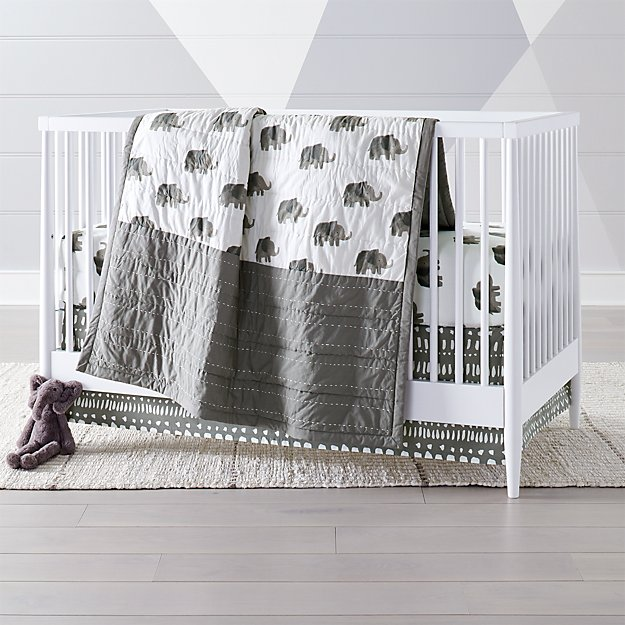 Wild Excursion Elephant Crib Bedding Crate And Barrel