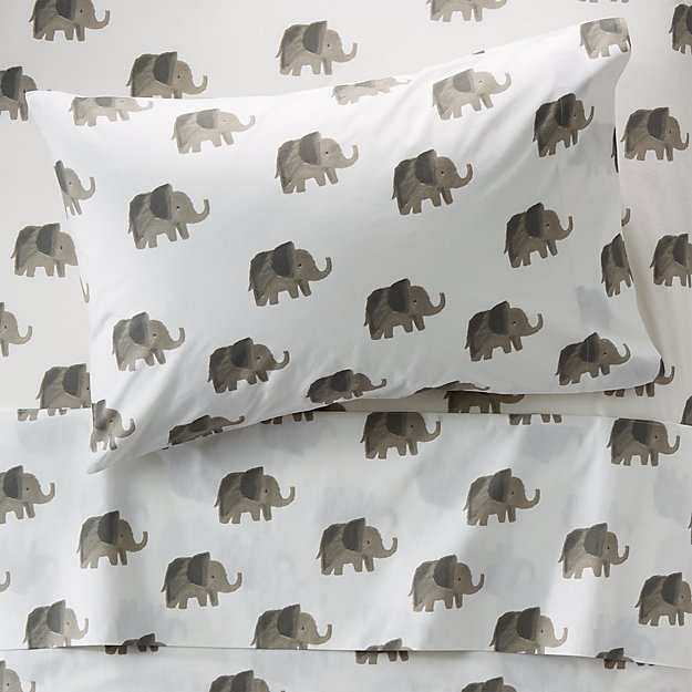 Organic Elephant Sheets Twin + Reviews | Crate and Barrel