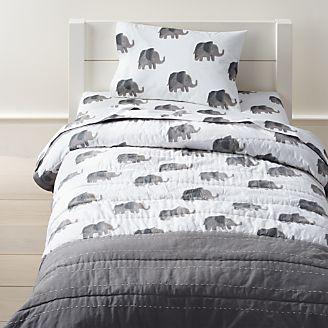 Wild Excursion Elephant Toddler Bedding