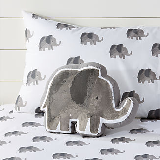 e97f20ff24 Elephant Baby Bedding | Crate and Barrel