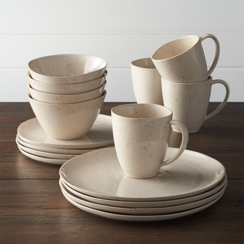 Wilder 16 Piece Dinnerware Set Reviews Crate And Barrel