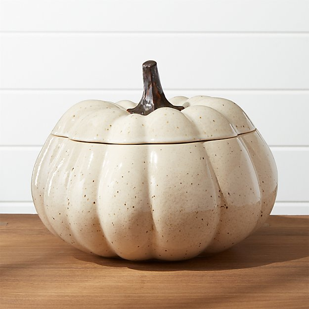 Wilder Pumpkin Serving Bowl with Lid