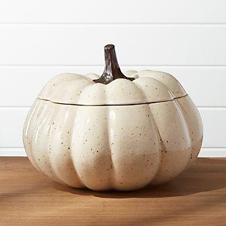 Wilder Pumpkin Serving Bowl with Lid