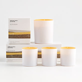 Wildflower Prairie and Summer Sky Scented Candles