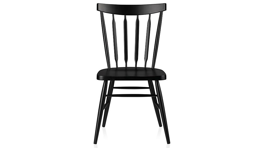Willa Black Wood Dining ChairCrate and Barrel