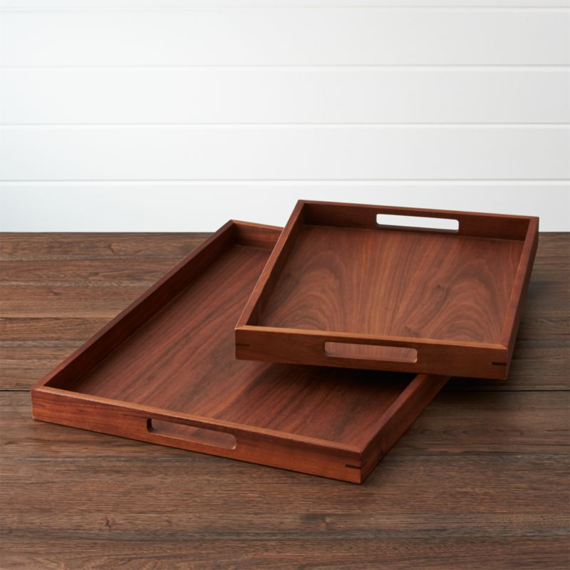 Kitchen Cabinets For Trays And Platters