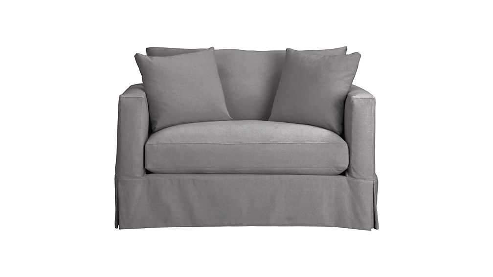 Willow Grey Twin Sofa Sleeper With Air Mattress Reviews Crate And Barrel