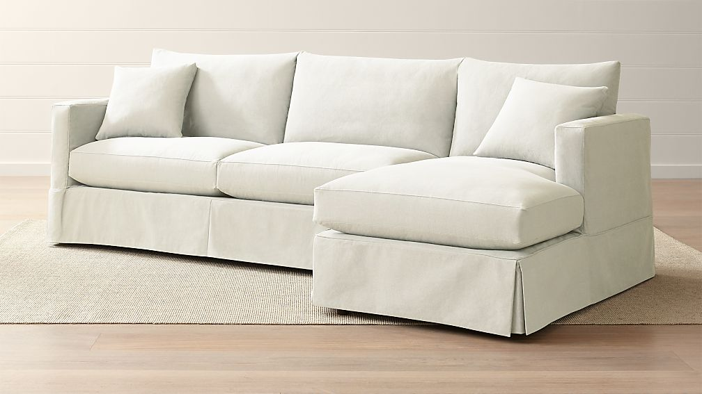 Willow 2 Piece Right Arm Chaise Modern Slipcovered Sectional