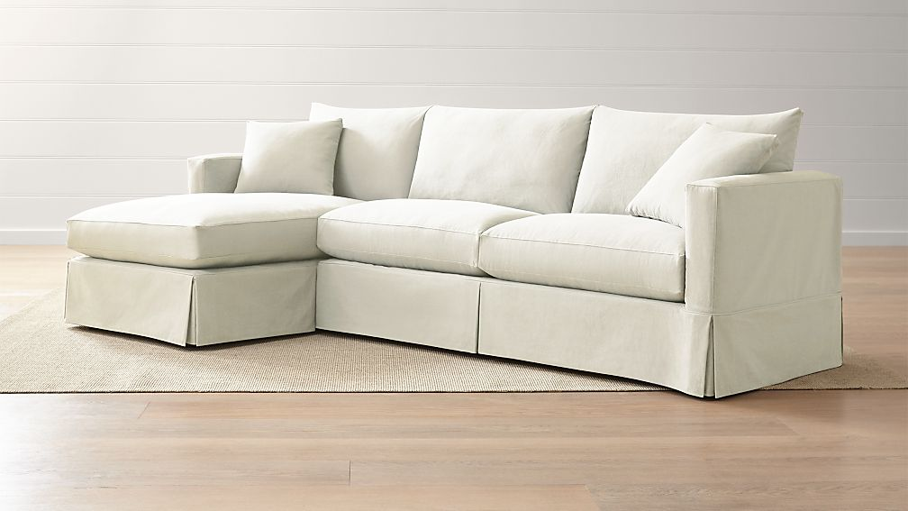 Willow 2Piece Left Arm Chaise Sectional Crate and Barrel