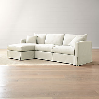 Willow 2 Piece Left Arm Chaise Modern Slipcovered Sectional