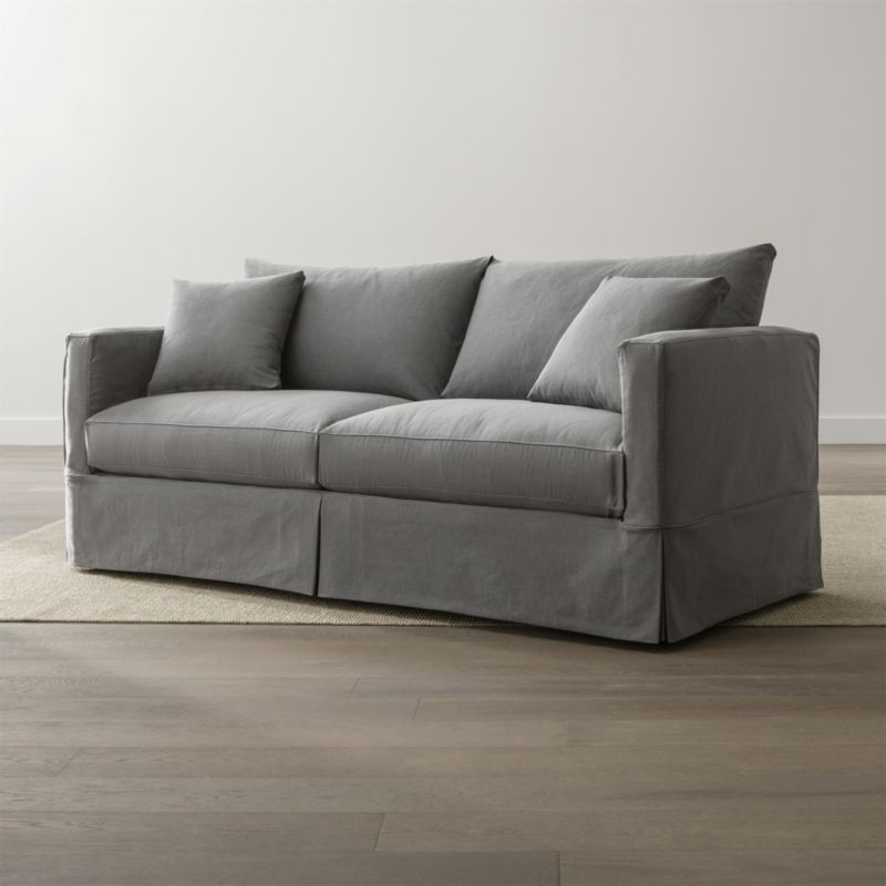 Willow Grey Slipcover Sofa Reviews Crate and Barrel