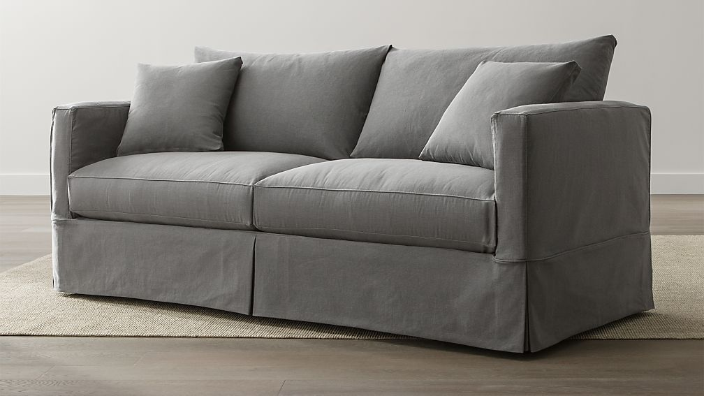 Willow Grey Slipcover Sofa Crate and Barrel
