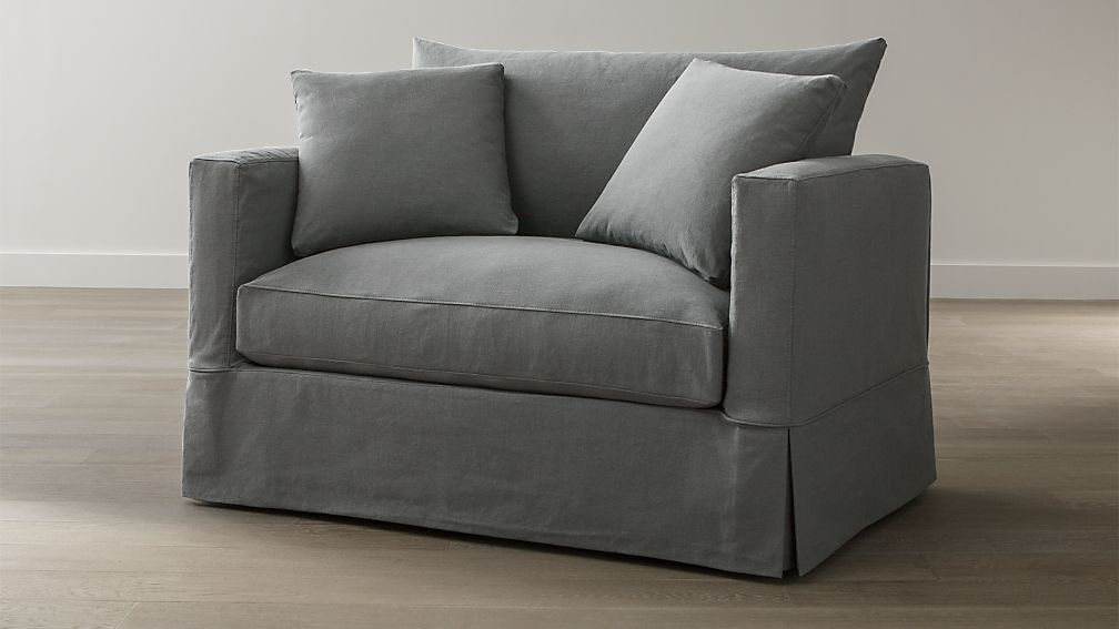 Willow Grey Twin Sofa Sleeper with Air Mattress + Reviews | Crate