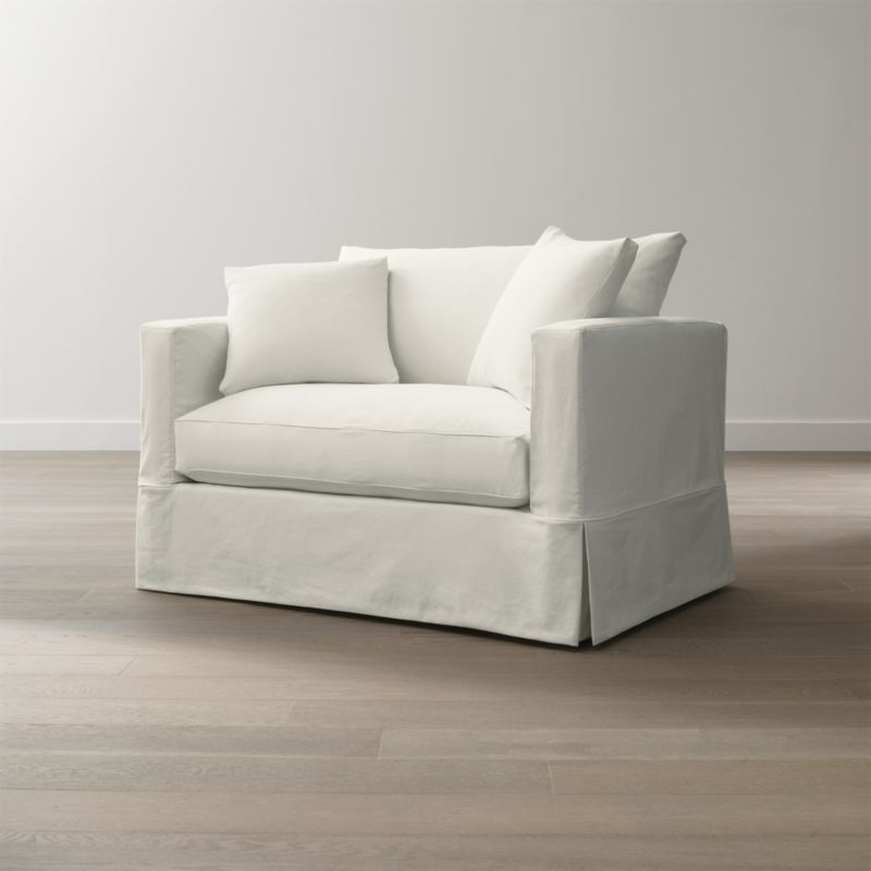 Slipcover Only for Willow Modern Slipcovered Twin Sleeper Sofa