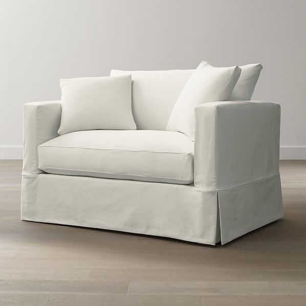 Willow White Twin Sleeper Sofa