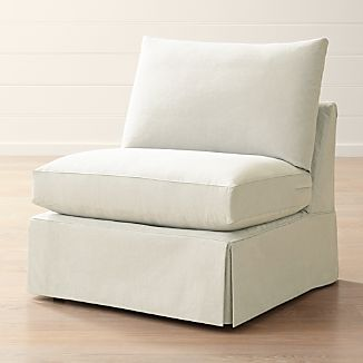 Superbe Silipcover Only For Willow Modern Slipcovered Armless Chair