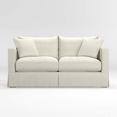 Willow White Couch With Pull Out Bed + Reviews | Crate And Barrel
