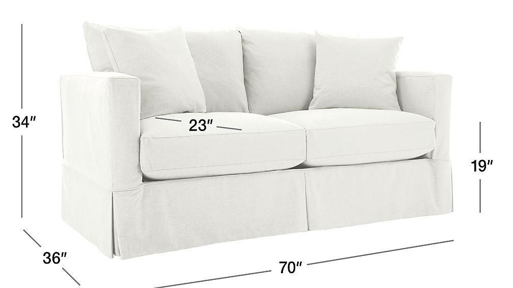 Willow White Apartment Sofa In Sofas Reviews Crate And