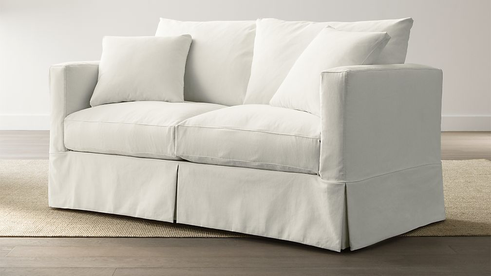 Willow White Apartment Sofa + Reviews | Crate and Barrel