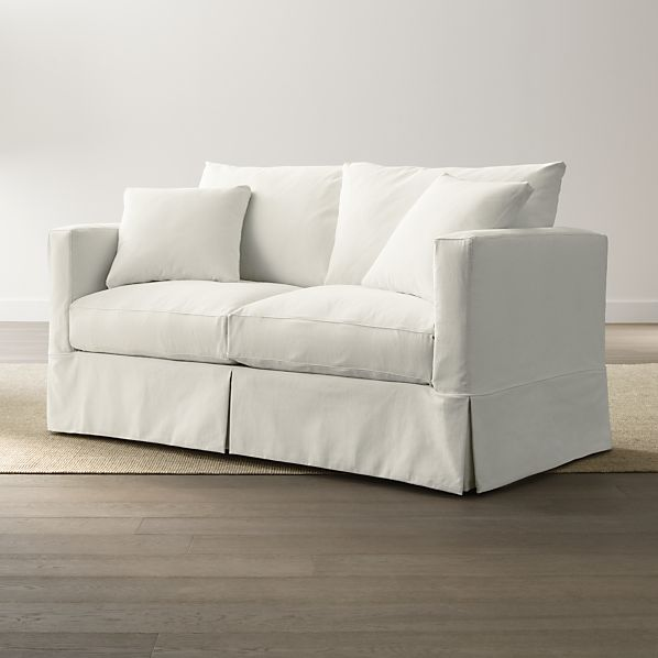 Slipcover Only For Willow Modern Slipcovered Apartment Sofa Crate And Barrel