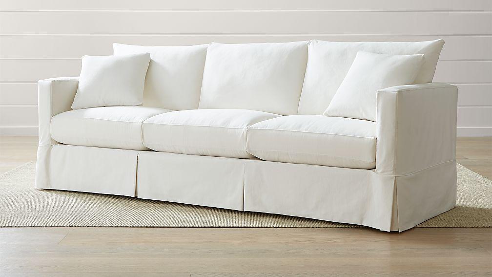 "Willow 103"" Grande Modern Slipcovered Sofa - Image 1 of 5"