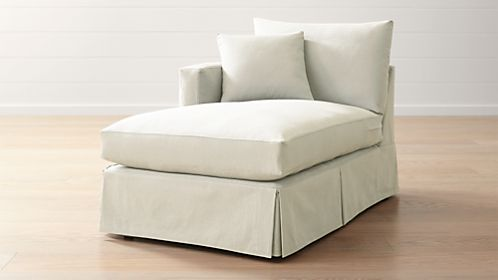 Willow Modern Slipcovered Left Arm Chaise