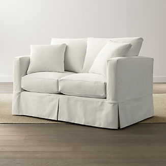 Slipcover Only For Willow Modern Slipcovered Loveseat