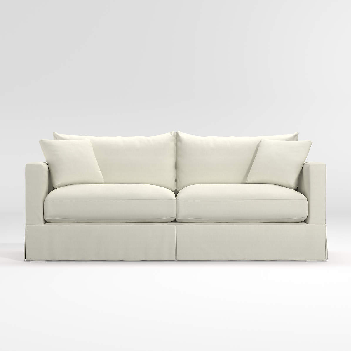 Picture of: Willow White Queen Sleeper Sofa With Air Mattress Reviews Crate And Barrel