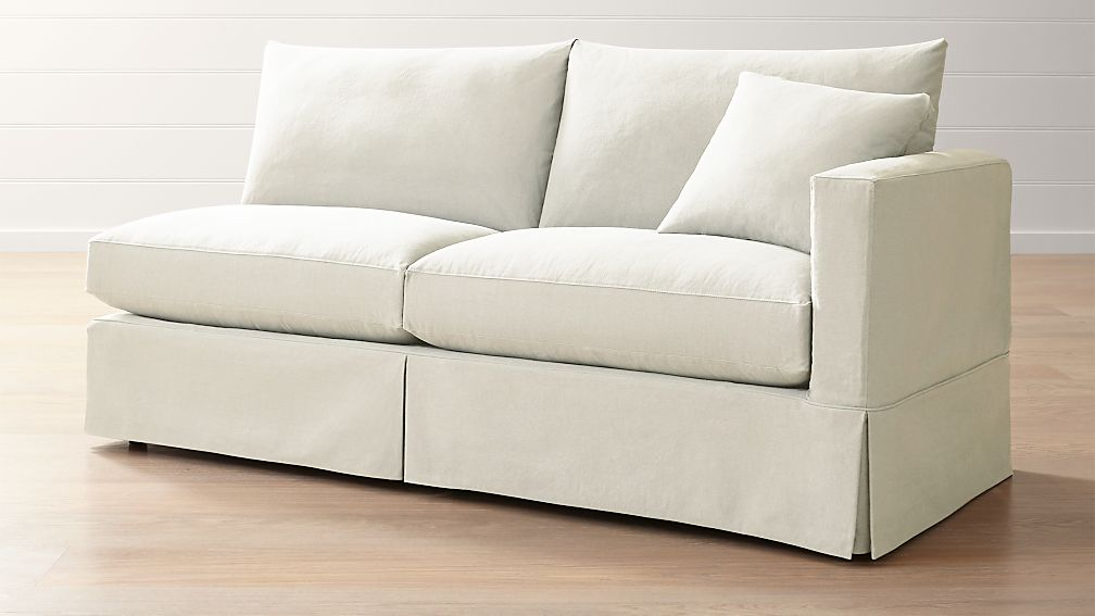 Slipcover Only For Willow Modern Slipcovered Right Arm Sofa Reviews Crate And Barrel
